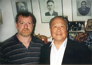 Allan with his teacher Grand master Yang Zhenduo